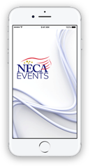 Phone with NECA Events App Image